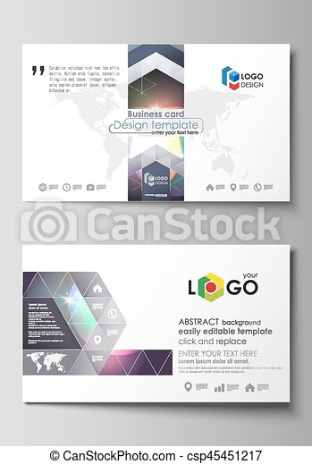 Business Card Templates Easy Editable Layout Abstract Vector - Easy business card template