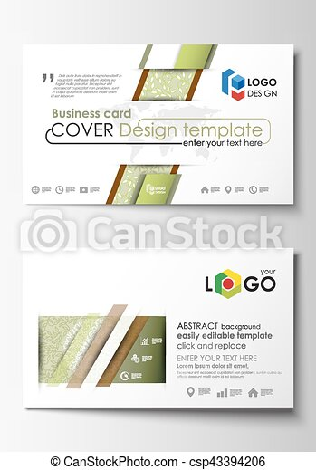 Business card templates easy editable layout abstract flat design business card templates easy editable layout abstract flat design vector template green color fbccfo Choice Image