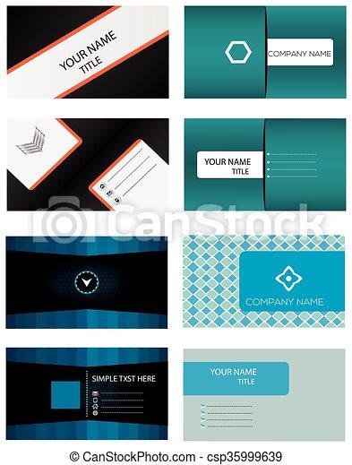 Business card templates set 4 set vector business card vectors business card templates set csp35999639 reheart Choice Image
