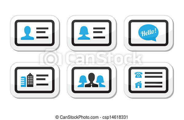 Business card vector icons set black and blue labels set business card vector icons set reheart Gallery