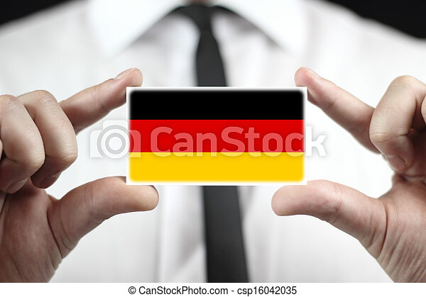 business card with a Germany Flag - csp16042035