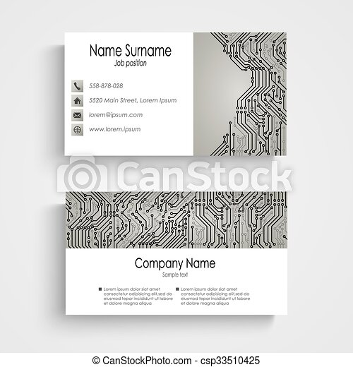 Business card with abstract printed circuit board vector eps 10 business card with abstract printed circuit board csp33510425 colourmoves
