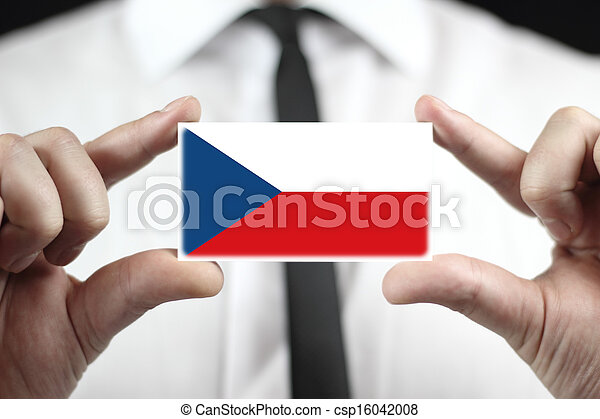 business card with Czech Flag - csp16042008