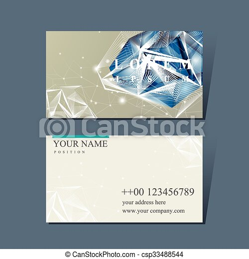 Modern design for business card with diamond element business card with diamond element csp33488544 colourmoves