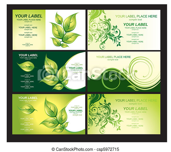 Business card with green foliage business card with green foliage reheart Images