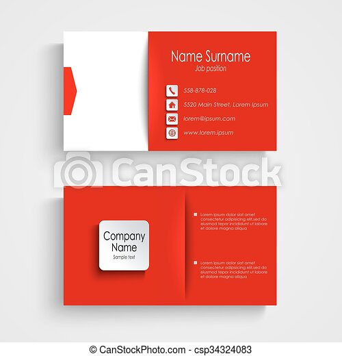 Business card with red white background template vector eps 10 business card with red white background template csp34324083 cheaphphosting Images