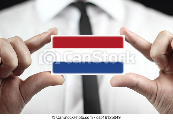 business card with The Netherlands  - csp16125049