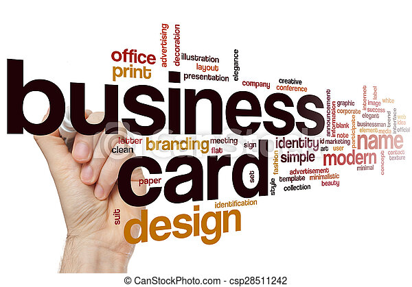 Business card word cloud concept business card word cloud csp28511242 reheart Choice Image