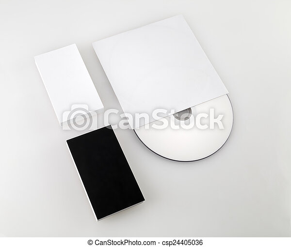 Business cards and cd blank black and white business cards stock business cards and cd csp24405036 reheart Images
