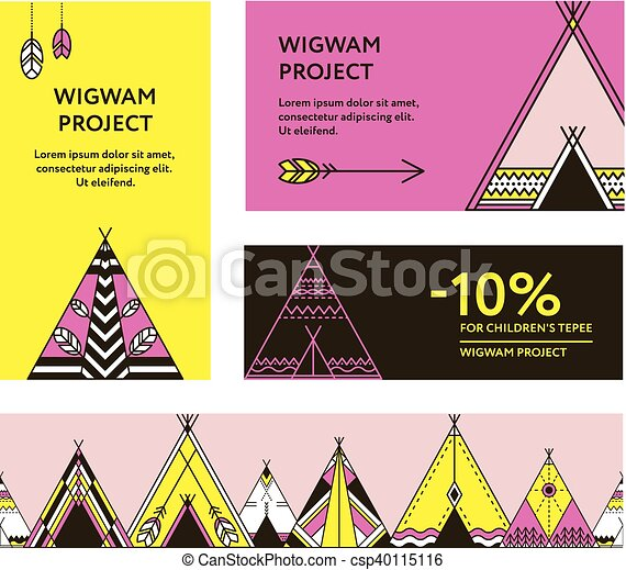 Business cards and promotional flyers with wigwams business business cards and promotional flyers with wigwams csp40115116 colourmoves Images