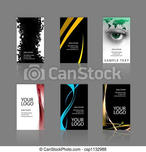 Business Cards Assortment - csp1132988