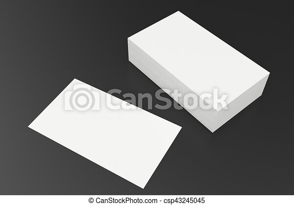Business cards blank mockup template on balck background 3d business cards blank mockup template on balck background 3d rendering csp43245045 fbccfo Image collections