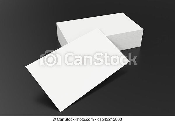 Business cards blank mockup template on balck background 3d business cards blank mockup template on balck background 3d rendering csp43245060 accmission Image collections