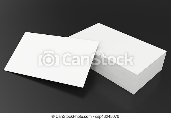 Business cards blank mockup template on balck background stock business cards blank mockup template on balck background 3d rendering csp43245070 accmission Image collections