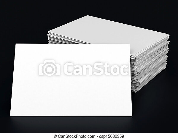 Business cards blank mockup template black background stock business cards blank csp15632359 reheart Image collections