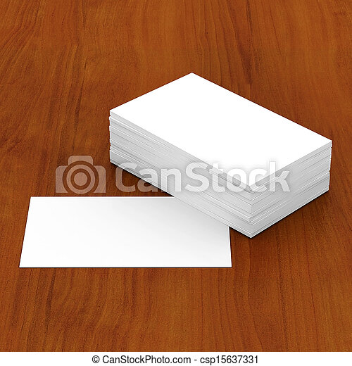 Business cards blank - csp15637331