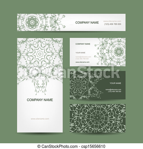 Business cards collection floral design vector clip art search business cards collection floral design vector reheart Gallery