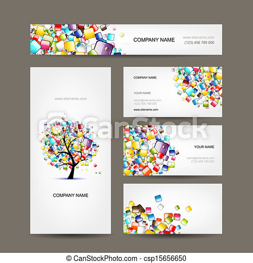 Business cards collection with web tree design clipart vector business cards collection with web tree design csp15656650 colourmoves Images