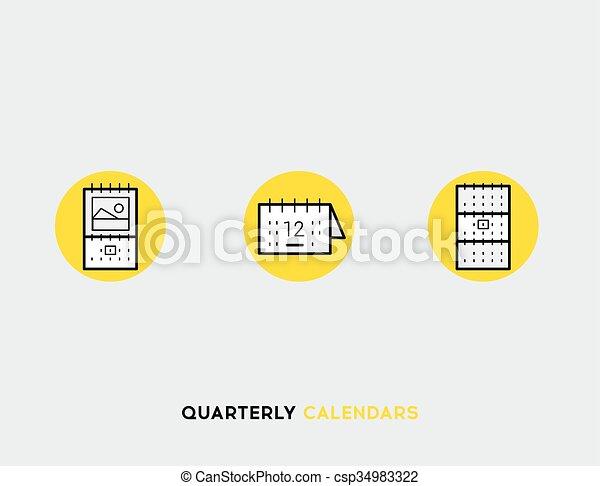 Business cards flat illustration Set of line modern icons - csp34983322