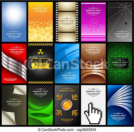 business cards (set 10) - csp3645934