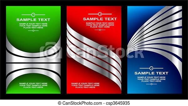business cards set 11 - csp3645935