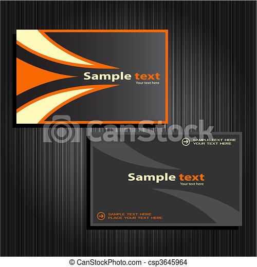 business cards set 31 - csp3645964