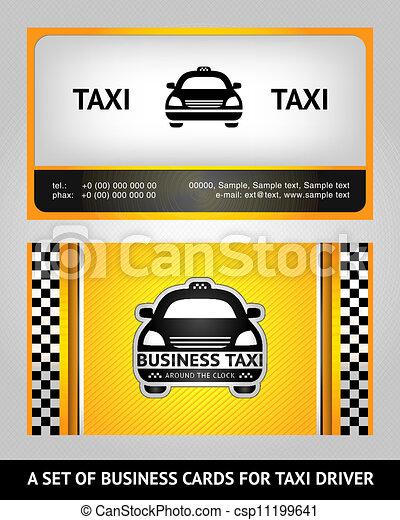 Business Cards Taxi Set