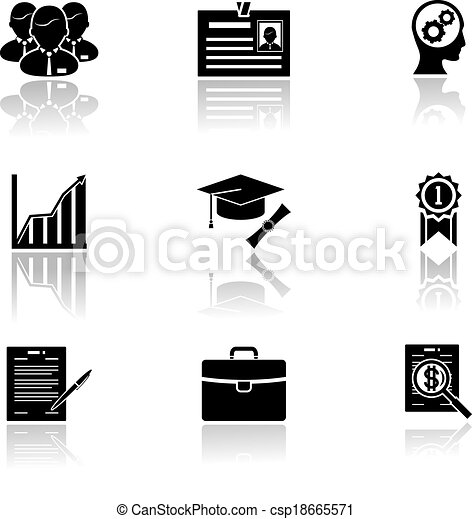 Business career icons - csp18665571