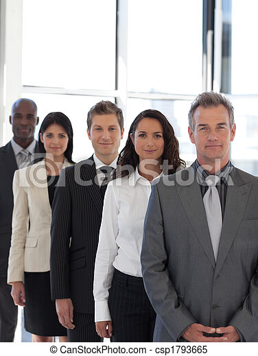 business CEO leading team - csp1793665