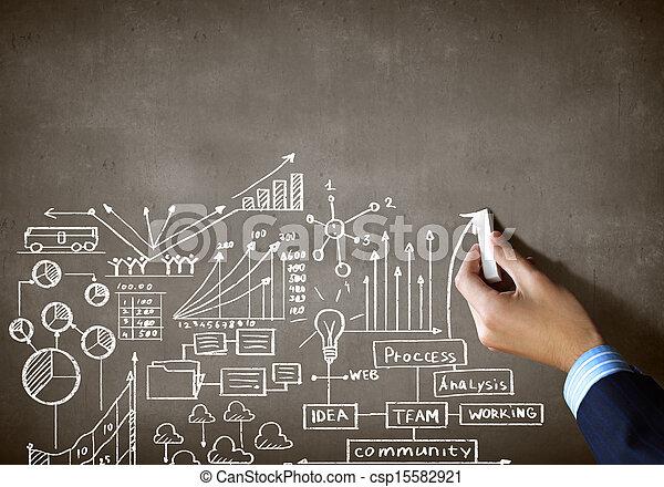Business chalk sketch - csp15582921