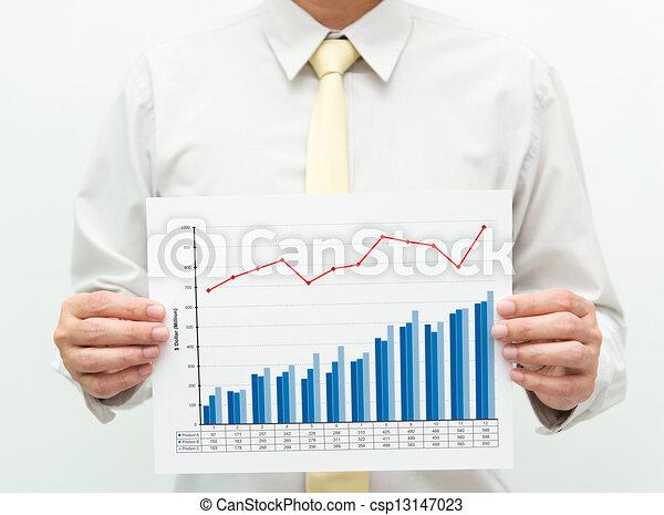 Business chart  - csp13147023