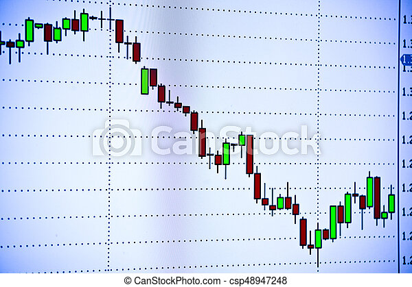 Business chart on monitor - csp48947248