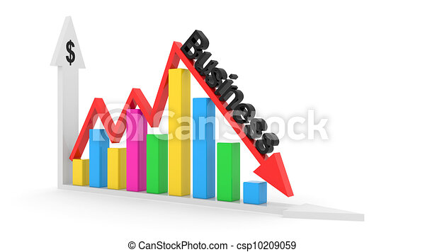 business chart showing financial success at the stock market - csp10209059