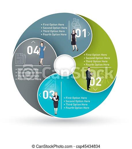 Business circle infographic - csp45434834