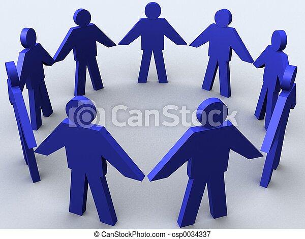 Business circle. - csp0034337