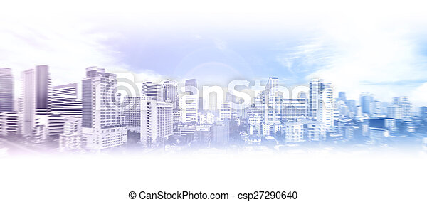 Business city background - csp27290640