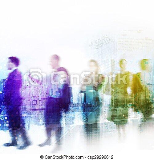Business city life - csp29296612
