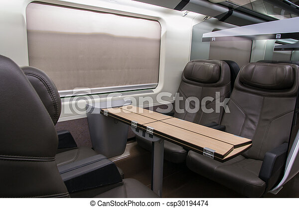 picture of business class of a railroad car business class with csp30194474 search stock. Black Bedroom Furniture Sets. Home Design Ideas