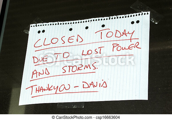 Business Closed sign - csp16663604