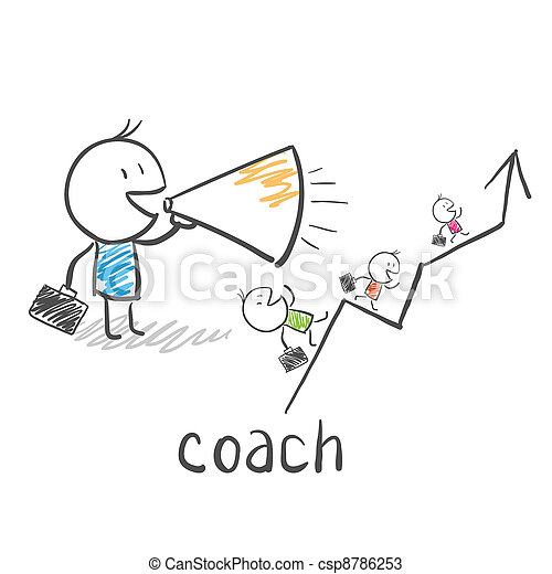 Business coach, trainer  - csp8786253