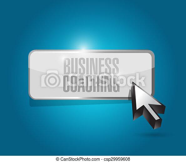 business coaching button sign concept - csp29959608