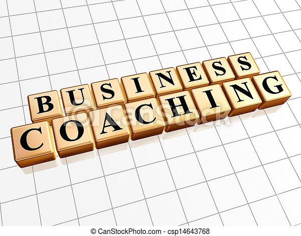 business coaching in golden cubes - csp14643768