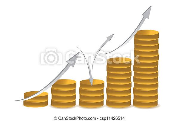 business coin illustration design - csp11426514