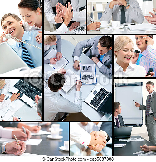 Business collage - csp5687888