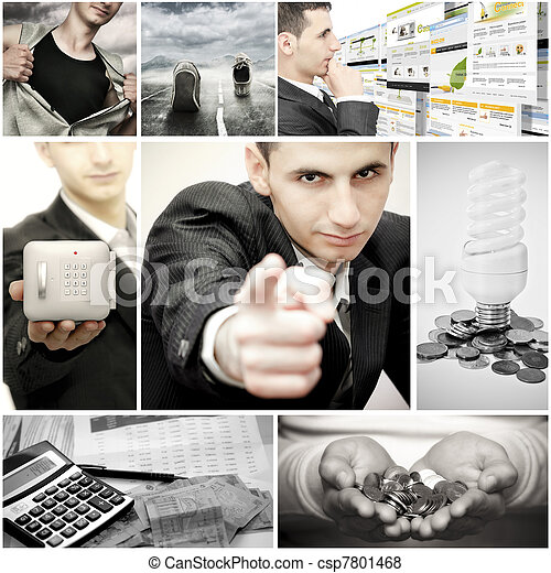 Business collage - csp7801468
