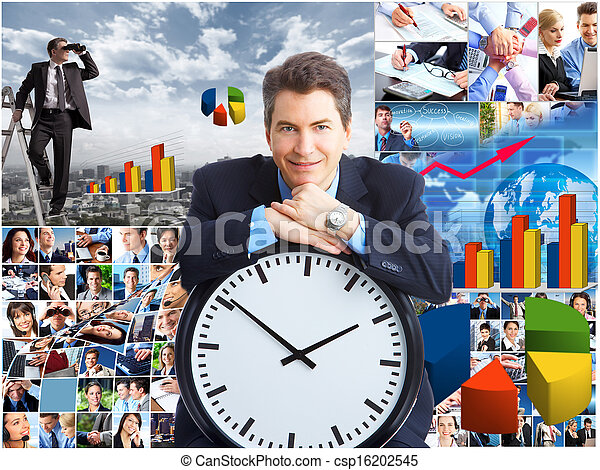 Business collage. - csp16202545