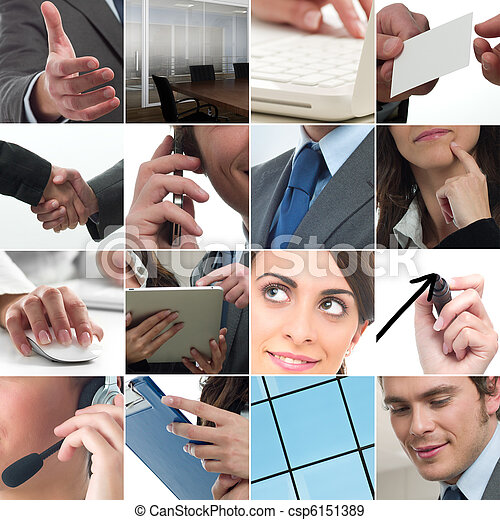 Business collage - csp6151389