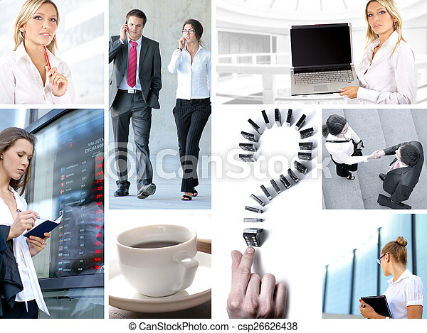 Business collage - csp26626438