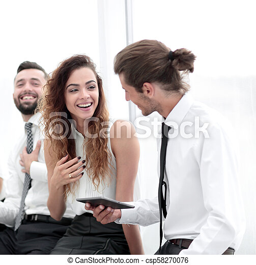 business colleagues with a tablet. - csp58270076