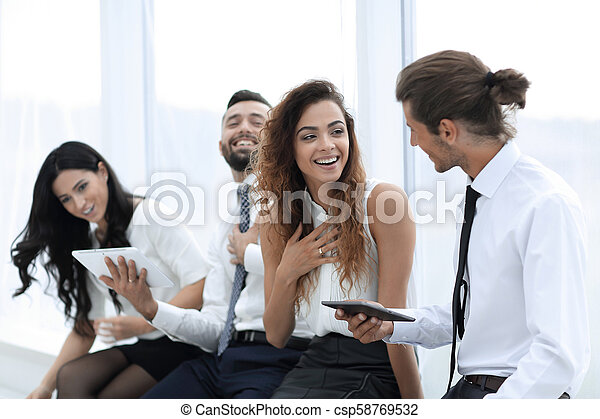 business colleagues with a tablet. - csp58769532